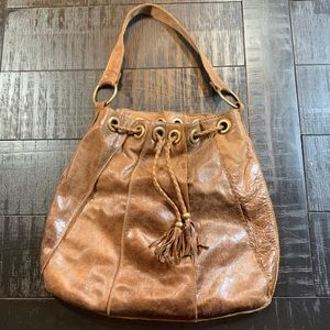 Free People Bolu Distressed Leather Slouch Hobo